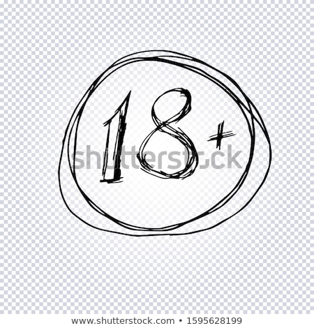 abstract 18 plus warning stamp stock photo © pathakdesigner