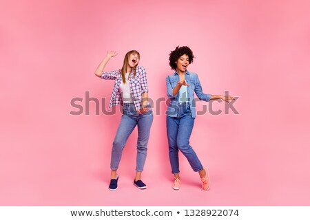 Woman dancing with joy Stock photo © photography33