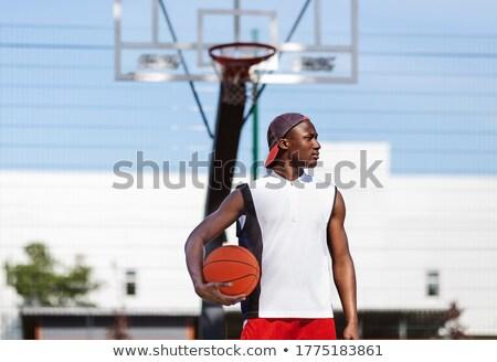 man holding basketball stock photo © photography33