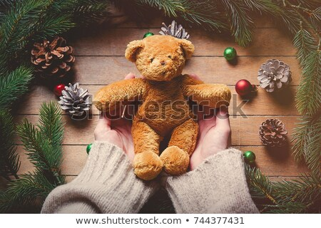 old woman holding a teddy bear stock photo © photography33
