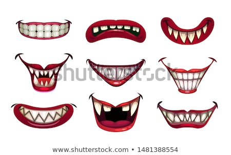 red mouth smiling, vector Stock photo © beaubelle