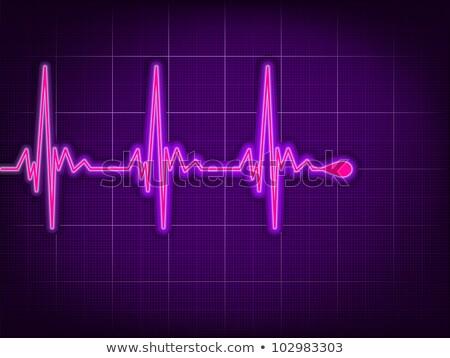 serca · kardiogram · głęboko · eps · cień · wektora - zdjęcia stock © beholdereye
