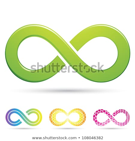 Nieskończoność symbolika stylu projektu podpisania przestrzeni Zdjęcia stock © cidepix