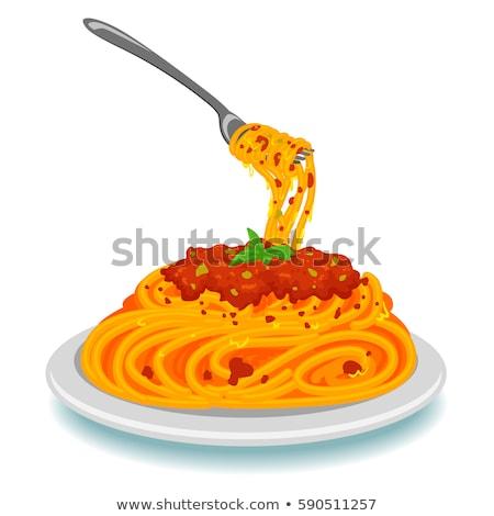 пасты томатном соусе горячей чили обеда пластина Сток-фото © shamtor