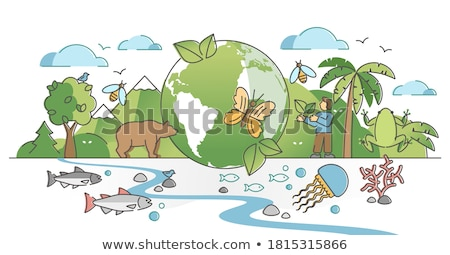 Nature, ecology and different animals protection Stock photo © vlad_star