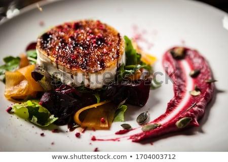 Meleg kecskesajt saláta ebéd étel diéta Stock fotó © M-studio