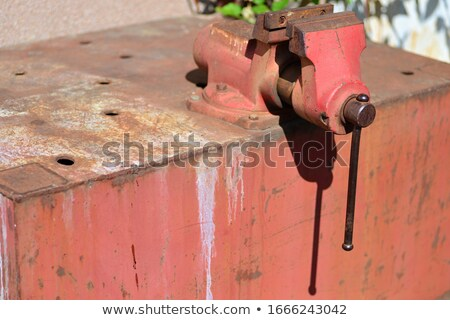 Rusty and used vise are ready Stock photo © vetdoctor