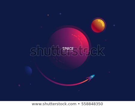 Satellite orbiting around the planet through the space Stock photo © tuulijumala