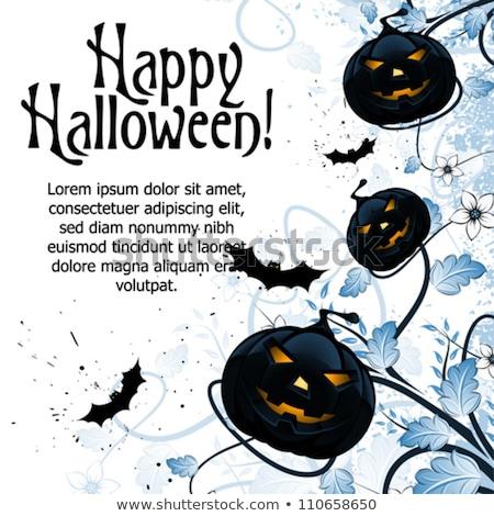 halloween · ilerleyin · imzalamak · süpürge · sopası · turuncu - stok fotoğraf © wad