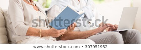 Grey-haired retired woman has a lot of free time Stock photo © photography33