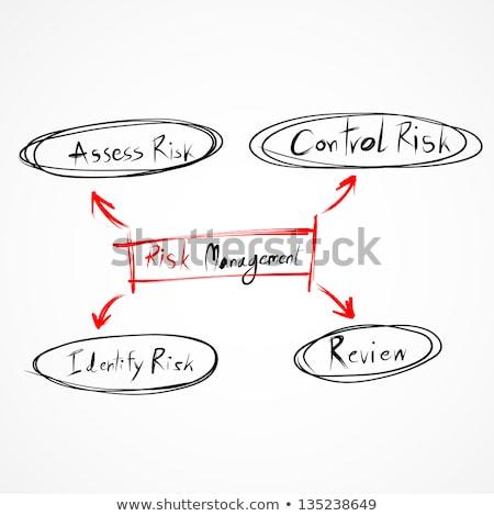 Válság folyamatábra piros írott toll papír Stock fotó © ivelin