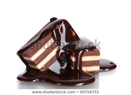 Two chocolate cakes with syrup Stock photo © broker