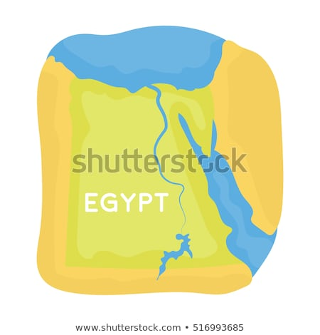 Map in colors of Egypt Stock photo © perysty