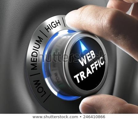blue web button with word boost on it stock photo © tashatuvango