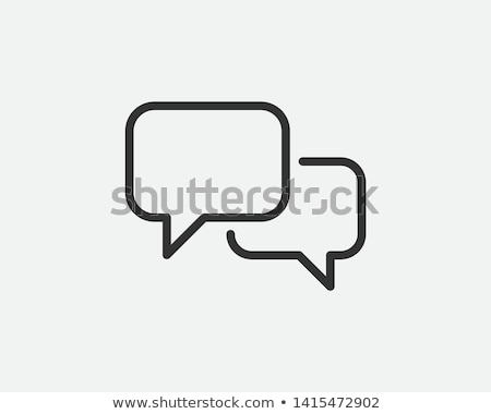 Chat icon gepolijst glas 3D afbeelding Stockfoto © AnatolyM