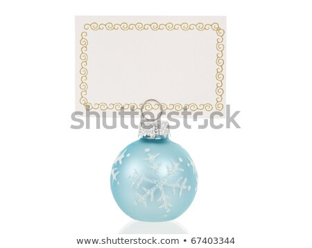 Closeup of christmas placecard holders  Stock photo © Sandralise