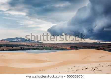 пустыне · песок · облака · Blue · Sky · пейзаж · природного - Сток-фото © dmitry_rukhlenko