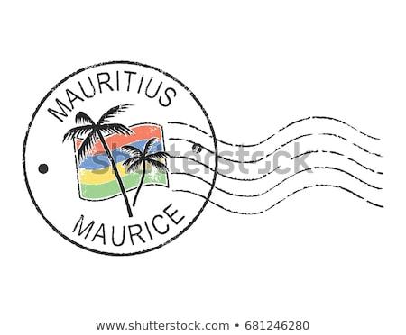 почты Маврикий изображение штампа карта флаг Сток-фото © perysty