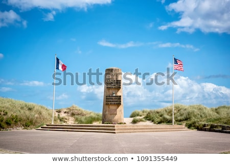 Nap múzeum tengerpart Normandia Franciaország háború Stock fotó © phbcz