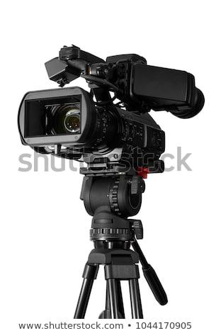 câmera · isolado · branco · vídeo · registro · quadro - foto stock © ozaiachin