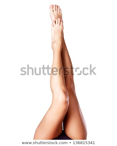 Stock photo: Long Beautiful Woman Legs Isolated on the White Background