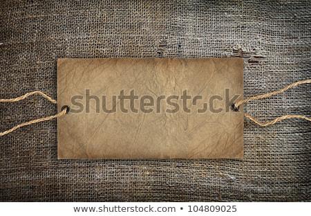старые мешок брезент текстуры цен тег Сток-фото © inxti