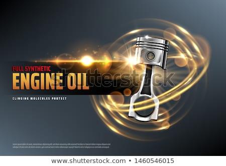 Motor piston vektör kroki örnek Stok fotoğraf © perysty