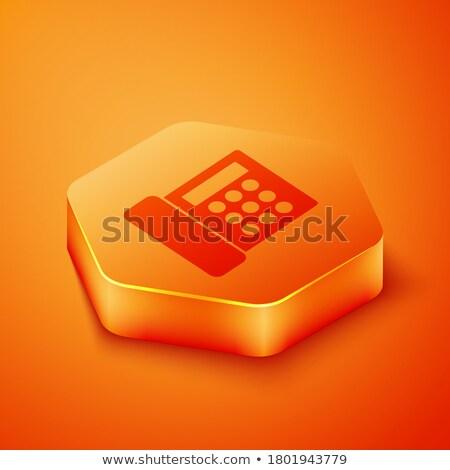 herramientas · signo · hexágono · botón · 3D - foto stock © marinini