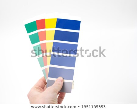 hand holding a colour chart stock photo © photography33