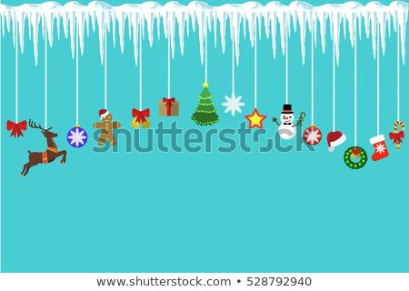 Cute raindeer on christmas tree detail Stock photo © backyardproductions