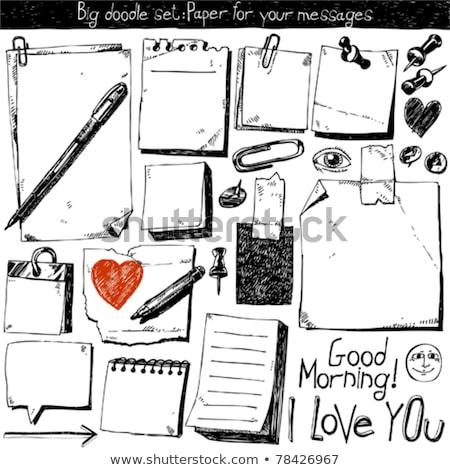 ilustracja · notebooka · farbują · igły · serca - zdjęcia stock © obradart
