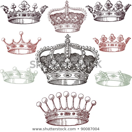 Vintage crowns set stock photo © Genestro