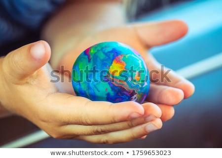 земле фотографий мира телевидение дизайна технологий Сток-фото © SSilver