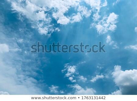 amazing cumulus cloud formation in deep blue sky stock photo © fesus
