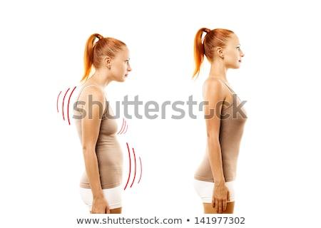 Slim beautiful woman with excellent body Stock photo © konradbak