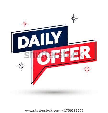 Codziennie czerwony banner przycisk 3D Zdjęcia stock © marinini