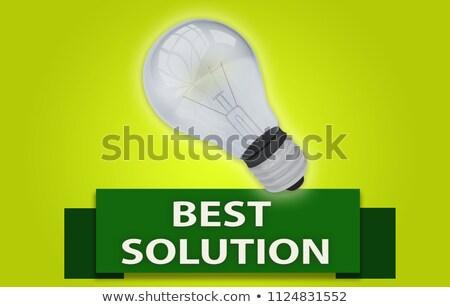 solução · palavra · mão · azul · quebra-cabeça - foto stock © quka