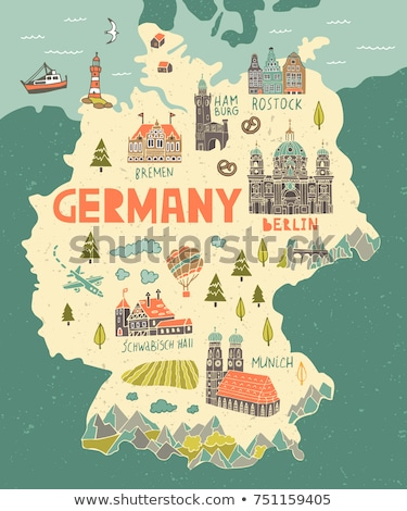Map of Germany with Berlin stock photo © Ustofre9
