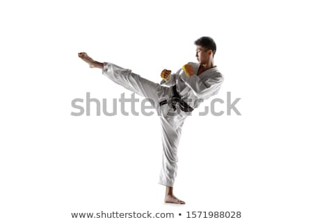 Stock photo: martial art isolated on black