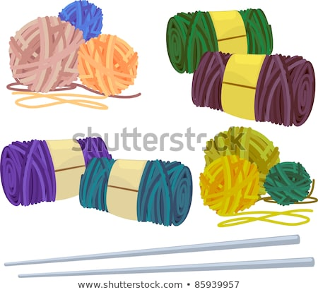 Knitting - yarn, needles, samples, work in progress Stock photo © ratselmeister