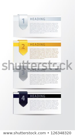 vector luxury progress cards for your business realistic feel stock photo © vitek38