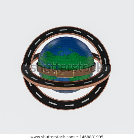 3D Globe with Surrounding Buildings Stock photo © cteconsulting