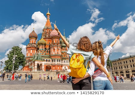 женщину туристических Москва Россия улыбка счастливым Сток-фото © Andersonrise