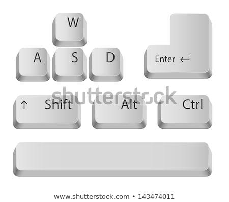 Szolgáltatás belépés kulcs gomb fehér billentyűzet Stock fotó © REDPIXEL