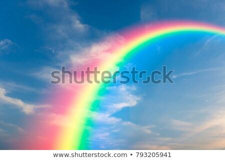 虹 · 自然 · 現象 · 写真 · 空 · 雨 - ストックフォト © zzve