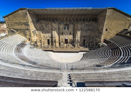 Roman Theater columns detail Stock photo © fxegs