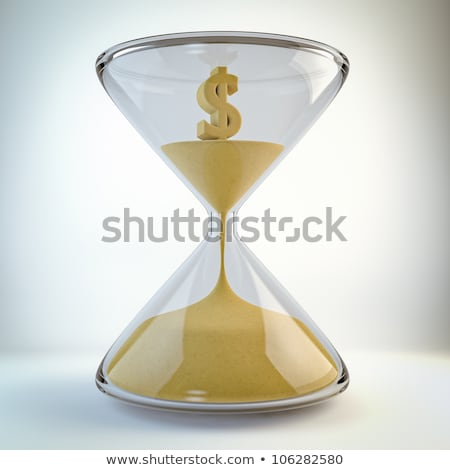 hourglass with dollar inside time is money concept stock photo © dacasdo