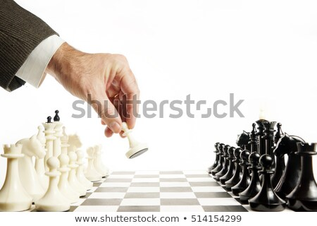 Première déplacer jeu échecs fond groupe Photo stock © vinodpillai
