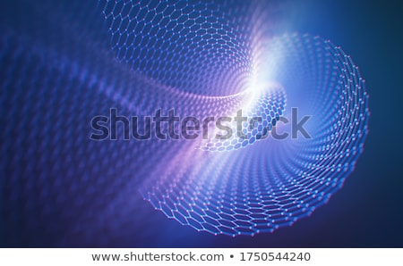 background with structure from a lattice in tube Stock photo © anna_tseliuba