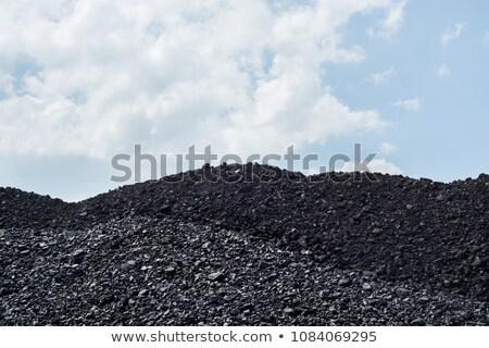 ストックフォト: 石炭 · 側面図 · 青空 · 背景 · 青
